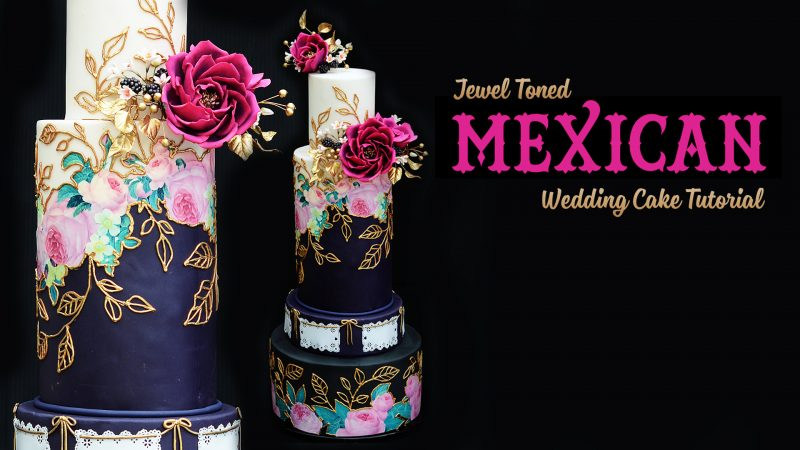 Jewel-Toned Mexican Wedding Cake Tutorial
