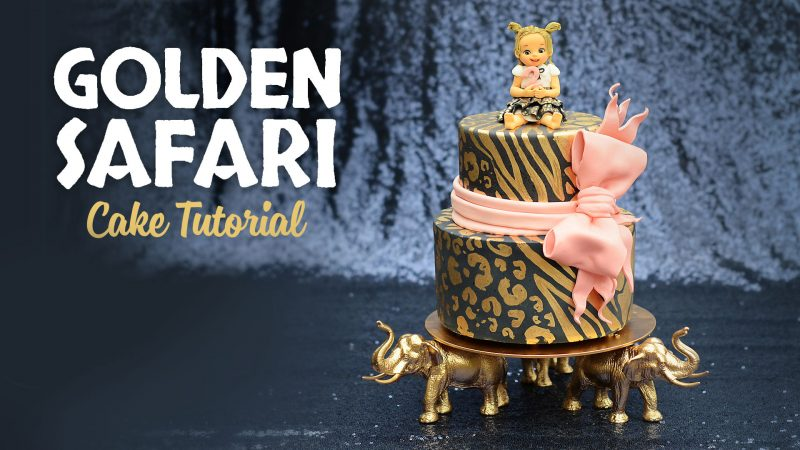 Golden Safari Cake