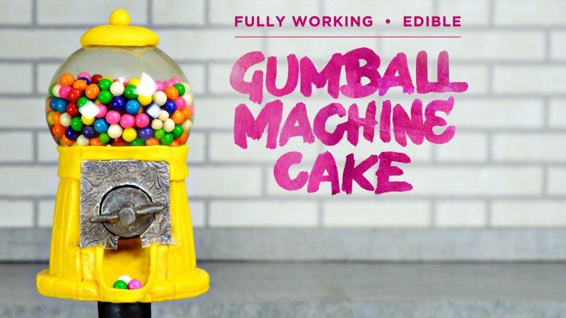 Working Gumball Machine Cake