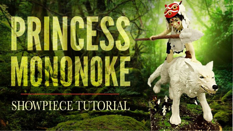 Princess Mononoke Showpiece Cake