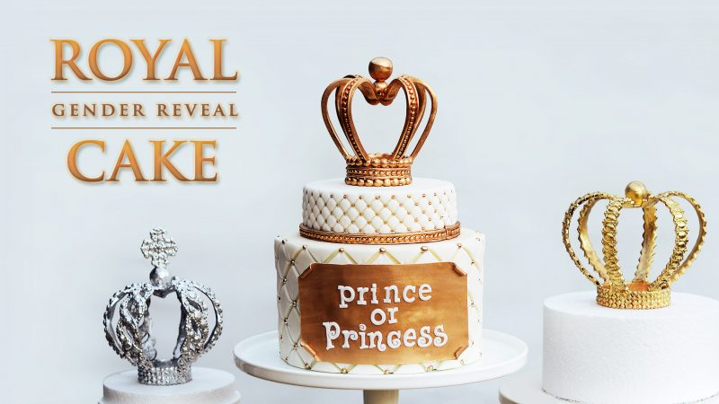 Royal Gender Reveal Cake