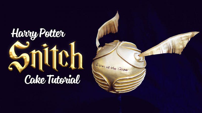 Harry Potter Snitch Cake Tutorial