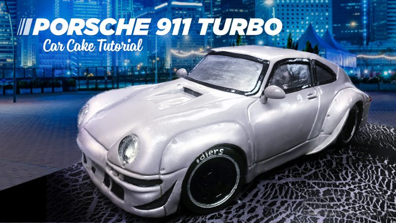 Porsche 911 Turbo Car Cake