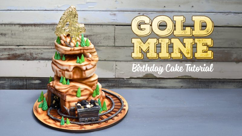 Gold Mine Cake Tutorial